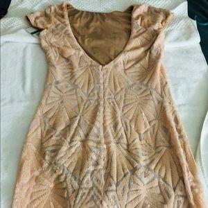 Bloomingdales Cap-sleeved evening Dress